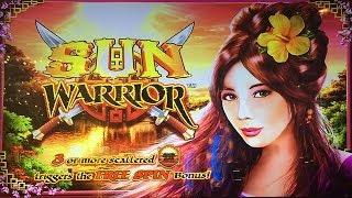 Sun Warrior MAX BET BIG WIN Slot Machine Bonus Free Spins