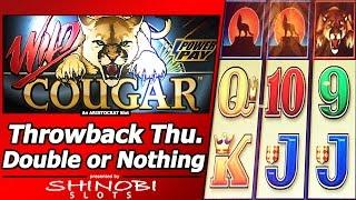 Wild Cougar Slot - TBT Double or Nothing, Live Play with 5 Free Spins Bonuses