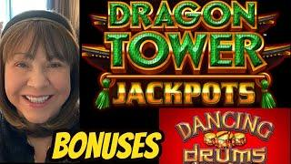 DRAGON TOWER JACKPOTS & HIGH LIMIT DANCING DRUMS