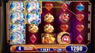Mystical Unicorn Slot Machine ~ WMS ~ MAX BET ~ FREE SPIN BONUS! ~ KEWADIN CASINO! • DJ BIZICK'S SLO