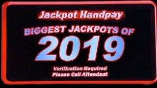 BIGGEST JACKPOTS ON YOUTUBE! ★ Slots ★ ALL MY FAVORITE HANDPAYS FROM 2019 ★ Slots ★ #THEREITIS!