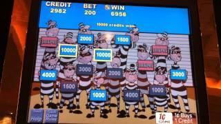 Bank buster slot machine sommier lattes sur roulettes