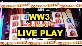 AWESOME LIVE PLAY Wicked Winnings 3 w/GREAT WINS!!!