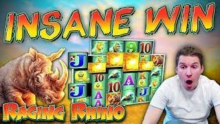 INSANE WIN on Raging Rhino Megaways Slot - 60p Bet
