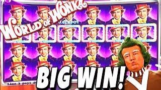 •BIG WINS• World of Wonka SLOT MACHINE BONUS feat. OOMPA LOOMPAS Wms Slots