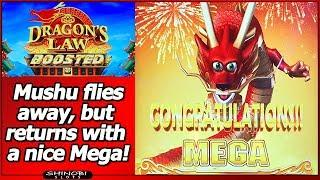 Dragon's Law Boosted Slot - Nice Line Hits, Free Spins and Progressive Win in New Konami game