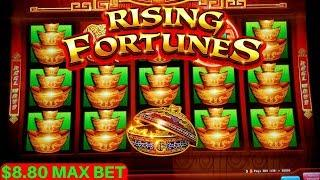 Rising Fortunes Slot Machine Bonuses Won & Big Win - AWESOME SESSION