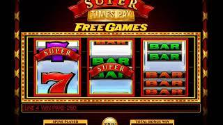 Super Times Pay slot - 2,350 win!