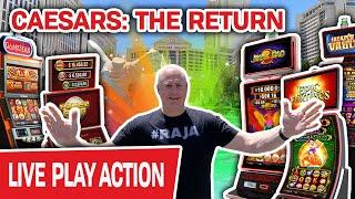 ⋆ Slots ⋆ CAESARS: The Return! ⋆ Slots ⋆ BACK in Las Vegas for LIVE HIGH-LIMIT SLOTS