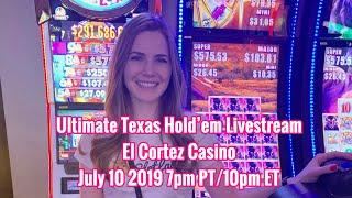Ultimate Texas Hold'em from the El Cortez Casino! July 10 2019