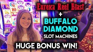 HUGE BONUS WIN! BUFFALO DIAMOND! Slot Machine!