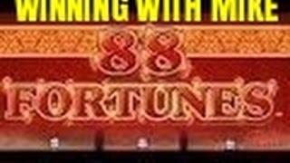 88 FORTUNES SLOT MACHINE BONUS-LIve Play with Mike