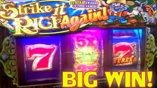 **BIG WIN** $10 HIGH LIMIT STRIKE IT RICH AGAIN & THUNDER CASH LIVE PLAY