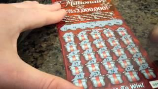 $600 SCRATCH OFF BOOK OF $20 MERRY MILLIONAIRE SCRATCH OFF TICKETS PART 4! ILLINOIS LOTTERY