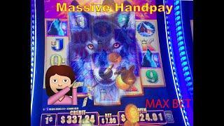 NEW Timber Wolf Diamond. Massive Jackpot Handpay!!!!