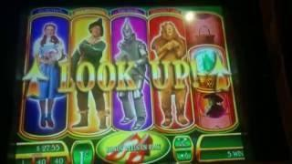 Wizard of Oz Ruby Slippers Slot Machine Bonus - All 4 Characters - Free Spins & Crystal Ball