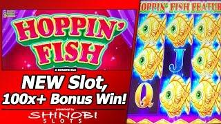 Hoppin Fish Slot - Live Play and Free Spins Bonus in First Attempt at new Konami game