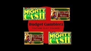 HOLD YOUR HORSES  &  MIGHTY CASH ~ Bonus Win ~ Live Slot Play From San Manuel