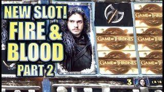•2ND LOOK! NEW SLOT!!• GAME OF THRONES FIRE & BLOOD (Aristocrat) Slot Machine Bonus