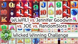 Wicked Winnings slot machine Challenge, WLWAL1 vs Jennifer Goodwin vs JOE vs RandomSlots