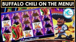 MY BIGGEST BUFFALO LINE HIT EVER! Buffalo Slot Machine and Wild Fiesta'coins Bonuses!