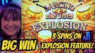 MY DRUMS EXPLODED FOR A BIG WIN BONUS ON NEW DANCING DRUMS EXPLOSION!