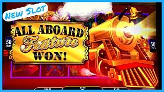 NEW SLOT ★ Slots ★  ALL ABOARD Dynamite Dash! Free Games & All Aboard Feature