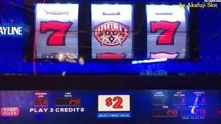 Akafuji BigWin•Triple Double Stars $2 Slot Max Bet $6 & Pink Diamond $2 Slot, Cosmopolitan Las Vegas