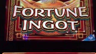 Fortune Ignot Bonus Round at $25/pull at the Lodge Casino