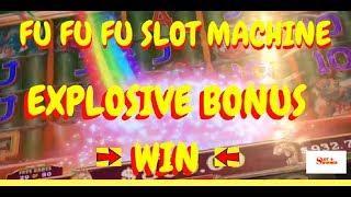 Fu Fu Fu Slot Machine EXPLOSIVE Bonus Win! Pokie Pokies #slotwinner
