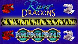 •️ MAX BET •️   River Dragons Slot Machine BIG WINS and BONUSES