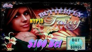 Bally - Butterfly Fairy - $100 Slot Bet Buy A Bonus BIG WIN