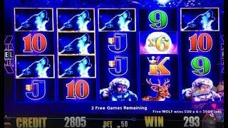 •Super Big Win•Free Play Timber Wolf 5c Slot Machine Bet $5 and Timber Wolf Deluxe San Manuel Casino