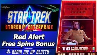 Star Trek Slot - Red Alert Bonus, Free Spins in New Starship Enterprise game