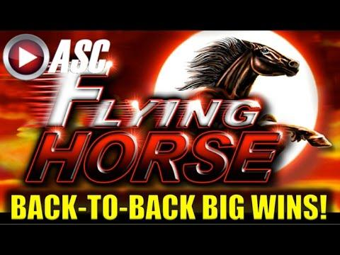 *BACK-TO-BACK BIG WINS!* FLYING HORSE | MEGA WILDS! Slot Machine Bonus (Ainsworth)