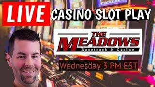 Live Casino Slot Machine Play from The Meadows Racetrack and  Casino in Washington PA