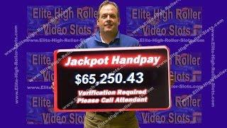 •$65,250.00 Jackpot, Handpay Win! $5 Casino Slot! Aristocrat, IGT Quick Hit, Buffalo, Blazing 7s • S