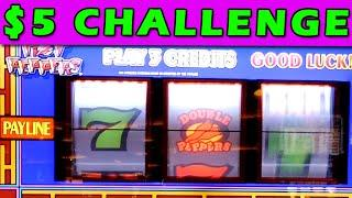 Double Peppers Slot Machine $5 Challenge!