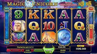 Magic Unicorn casino slots - 409 win!