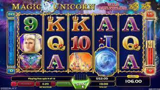 Magic Unicorn casino slots - 409 win!