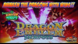 Konami - DRAGON EMBLEM JACKPOTS Slot Bonus NICE WIN!