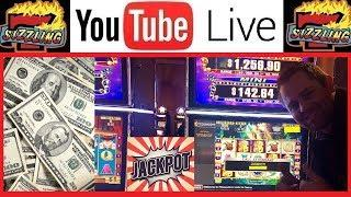 I WON LIVE! JACKPOT HANDPAY WIN as it HAPPENS! HIGH LIMIT! Sizzling Slot Machine Casino Videos