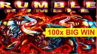 Rumble Rumble Slot - 100x BIG WIN - Bonus Retriggers, YES!