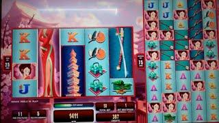 Open Kimono Slot Machine Bonus + Retrigger - Colossal Reels - 16 Free Spins Win with Mystery Symbols
