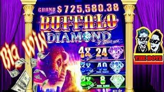 BUFFALO DIAMOND•BIG WIN BONUS•CASINO GAMBLING WITH THE BOYZ!