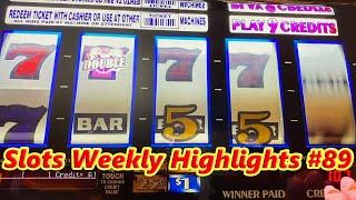 Slots Weekly Highlights #89 For you who are busy•Unpublished video 赤富士スロット, インディアン カジノ