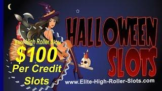$100 Slot! 10 Grand A Spin! Spooky Halloween High Limit Vegas Casino Jackpot Handpay Aristocrat, IGT