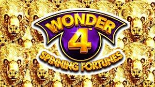 • NEW GAME • WONDER 4 SPINNING FORTUNES • MASSIVE WIN! • BUFFALO GOLD