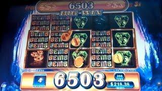 Gems Gems Gems Slot Machine *BIG WIN* Bonus!