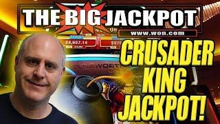 •JACKPOT ON NEWLY PLAYED GAME •CRUSADER KING! FREE GAMES!